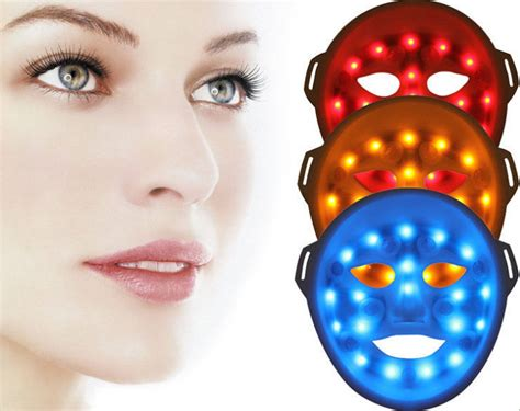 led light therapy mask led red blue yellow 3d light skin rejuvenation therapy led