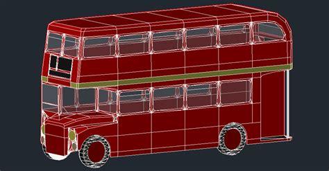 cad forum block model london bus vehicles