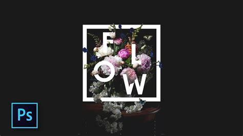 desain typography bunga keren floral typography