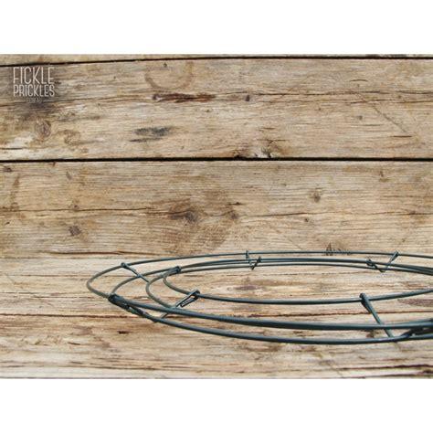 medium wire wreath frame form 30cm fickle prickles