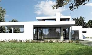 Maison En L Moderne : maison ultra moderne noir et blanc nantes depreux construction ~ Melissatoandfro.com Idées de Décoration
