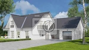Einfamilienhaus Mit Garage : haus als einfamilienhaus mit garage und garten fototapete fototapeten carport neubau hausbau ~ Eleganceandgraceweddings.com Haus und Dekorationen
