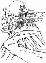 Halloween Haunted Mansions Colorings Print Spooky Coloring Pages Scary Sheets Houses Some Drawing Path Yould sketch template