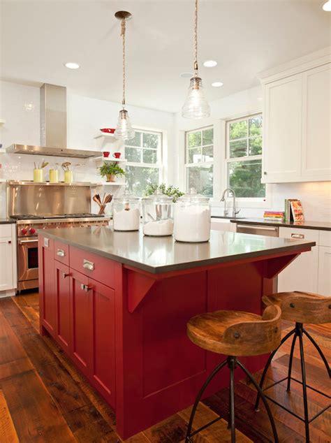 red kitchen island transitional kitchen benjamin