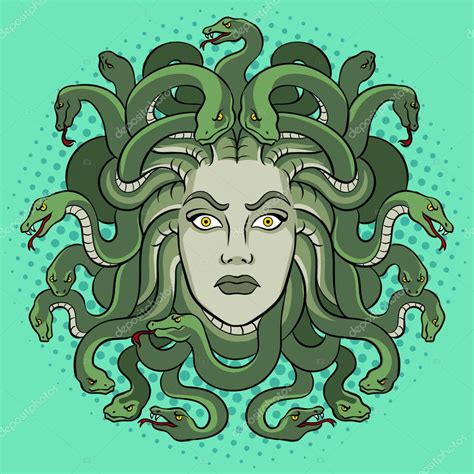 Medusa greek myth creature pop art vector — Stock Vector ...