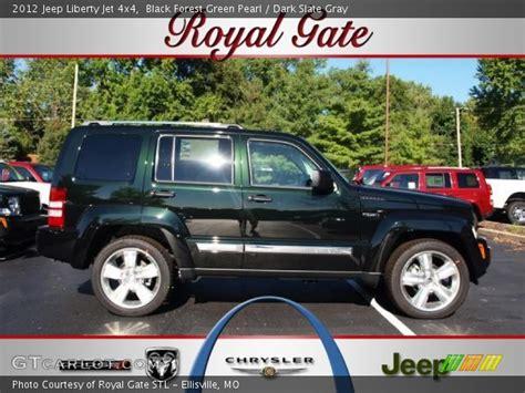 dark green jeep liberty black forest green pearl 2012 jeep liberty jet 4x4