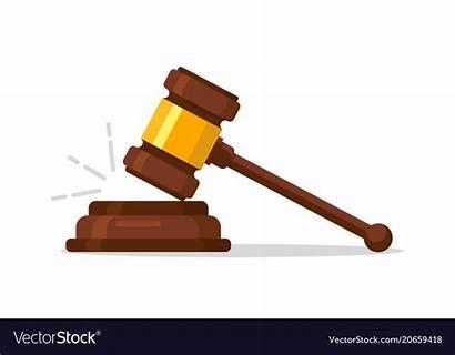 Judge Hammer Vector Judgment Wood Wooden Auction