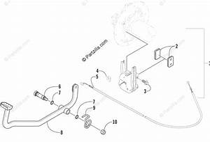 Arctic Cat Atv 2004 Oem Parts Diagram For Auxiliary Brake Assembly
