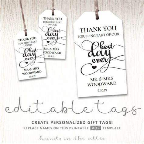 party gift favor tags images  pinterest