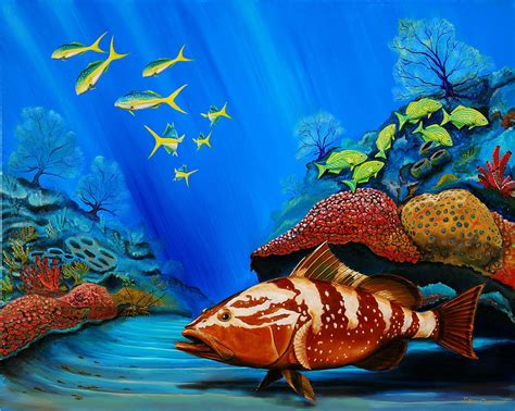 grouper ozment steve painting wall paintings 31st uploaded which reef coral