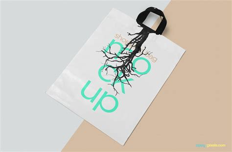 Bag mockup is a smart bag that can showcase your marketing brand personality designs. Free Glossy Polythene Shopping Bag Mockup Template
