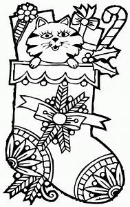 Christmas Stockings Coloring Pages 04 - Coloring Page Of
