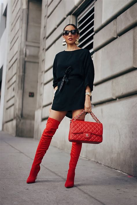 How To Wear Red Thigh High Boots | Haute Instinct