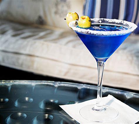 signature cocktail recipes godolphins royal blue martini