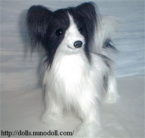 papillon stuffed dog
