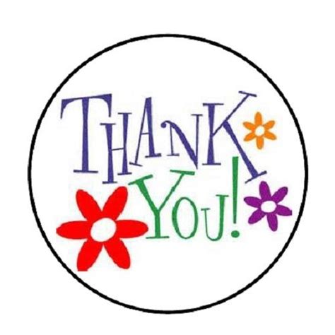 """48 Thank You With Flowers!!! Envelope Seals Labels Stickers 12"""" Round Ebay"""
