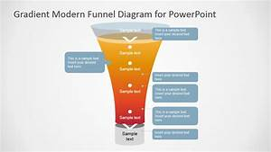 Gradient Modern Funnel Diagram For Powerpoint