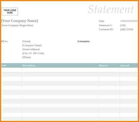 blank billing statement simple bill