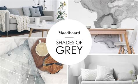 Grey Interior Mood board inspiration - Emodi