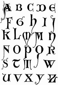 Gothic Letters A-Z | Initials, Gothic and Fonts