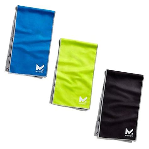 mission hydroactive    cooling towel bed bath