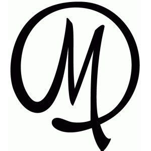 flourish monogram  monogram stencil silhouette design  letter design