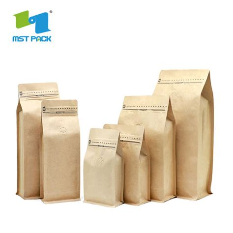 A wide variety of custom valve coffee bag options are available to you, such as sealing & handle, material, and feature. Wholesale High Quality Custom Printed Packaging Biodegradable Block Bottom Kraft Paper Coffee ...