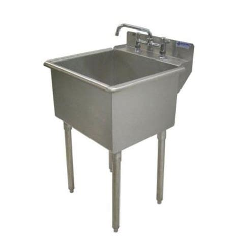 stainless steel utility laundry sink