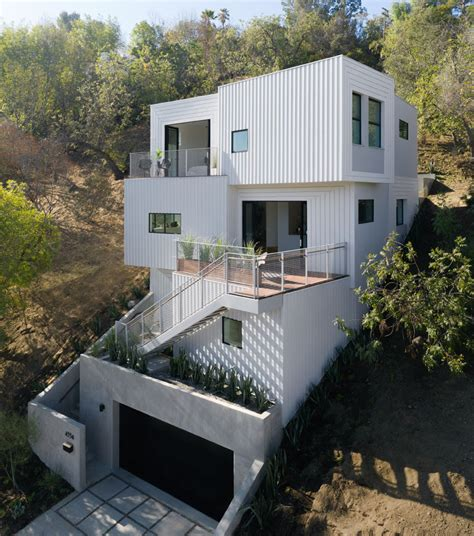 Stack House by The Stack House Has Been Built Into A Los Angeles Hillside