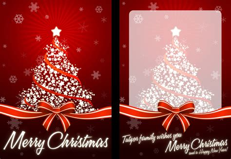 how to create your own christmas card ready for print