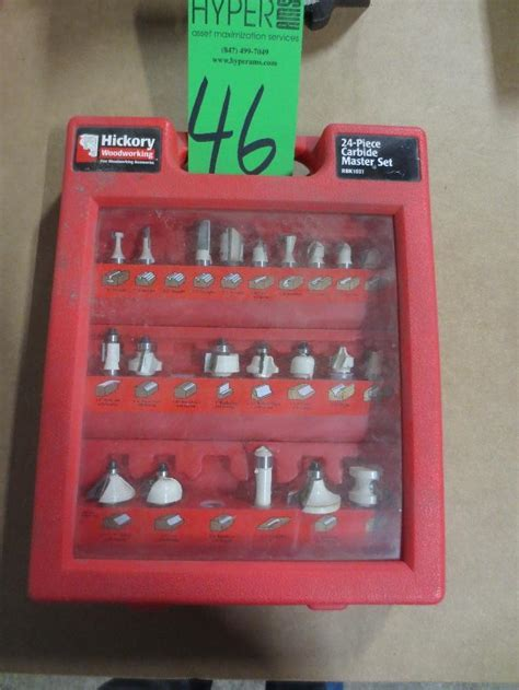 hickory woodworking carbide  piece router bit set