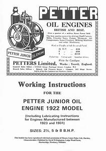 Petter Junior Stationary Oil Engine Instruction Manual