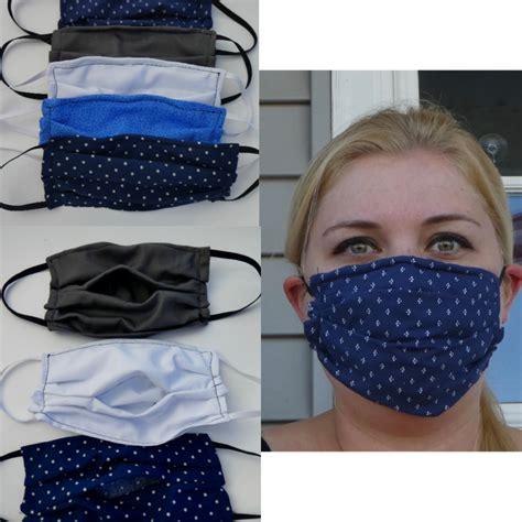 medical sewn face mask pattern  filter pocket  nose