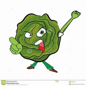 Cabbage Cartoon Character Stock Illustration - Image: 42468572