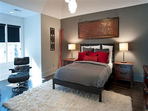 Gray And Red Bedroom, Red And Grey Bedroom Decorating