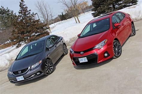 Toyota Vs Honda by 2014 Honda Civic Vs 2014 Toyota Corolla Autos Ca