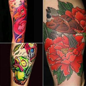 New School Tattoos - Tattoos with Heavy Outlines | Sleeve ...