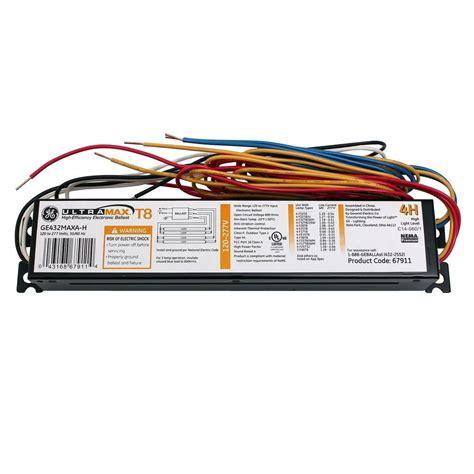 4 l t12 ballast home depot ge 120 to 277 volt ultramax electronic high ballast factor