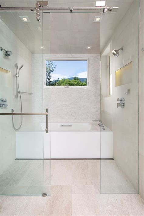 wet room  shower  soaking tub hgtv