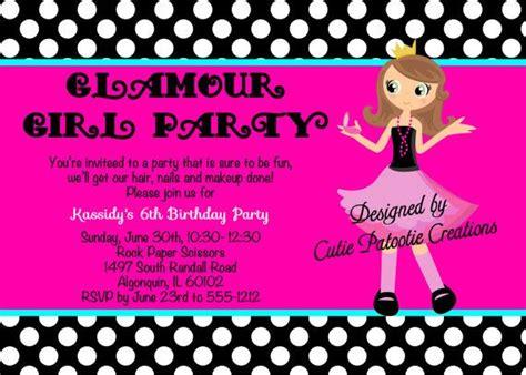 fashion invitation card template awesome fashion show birthday invitations ideas