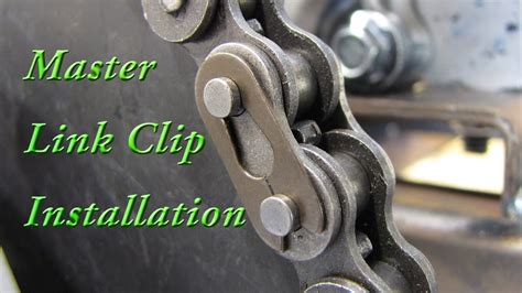 How To Install A Roller Chain Master Link Clip