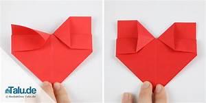 Herz Aus Papier Basteln : origami herz aus papier falten anleitung ~ Lizthompson.info Haus und Dekorationen