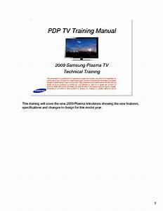 Samsung 2009 Pdp Plasma Training Manual Service Manual
