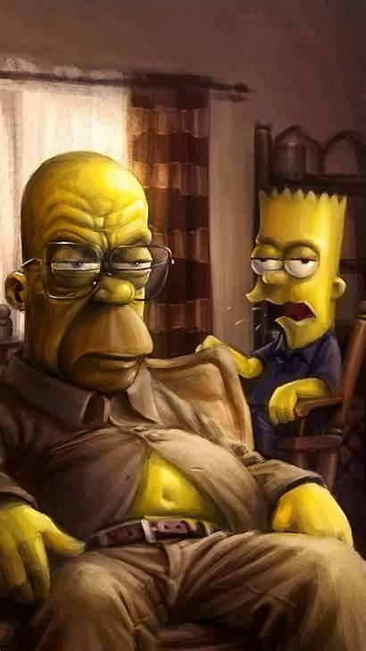 Bad Breaking Iphone Wallpapers Simpsons Simpson 4k