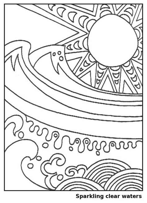 Waves in the Sun - Coloring Page for Kids - Free Printable Picture | Family | Sun coloring pages