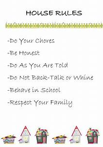 crayons and checkbooks printable house rules With house rules chart template