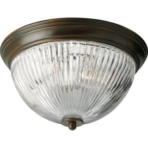 home depot ceiling lights flush mount progress lighting 2 light antique bronze flush mount p3656