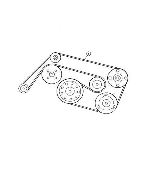 Srt6 Belt Diagram by 2005 Chrysler Crossfire Belt Accessory Drive Egz