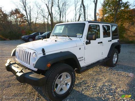 jeep wrangler sports 2016 2016 bright white jeep wrangler unlimited sport 4x4