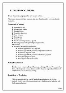Tendering documentation for Prepare tender documents